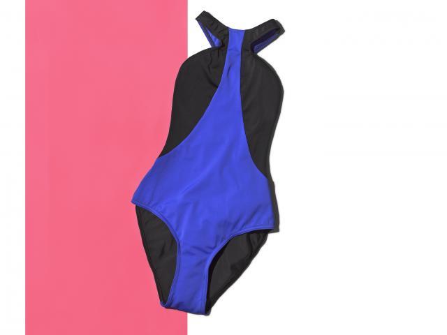 Asoscolourblockracerfrontswimsuit swimsuits fashion womneshealth