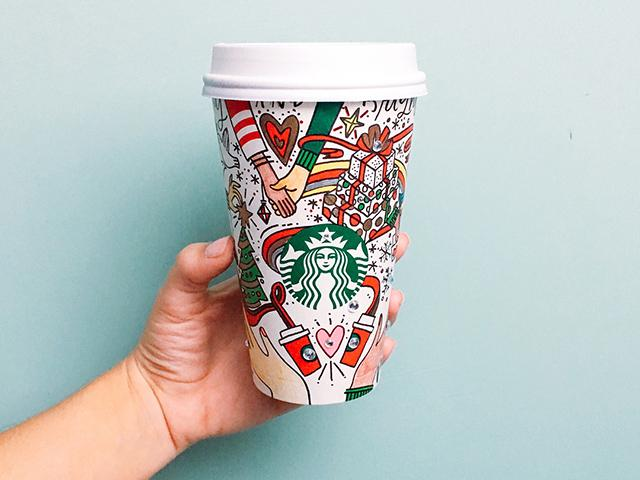 Starbucks christmas menu cup