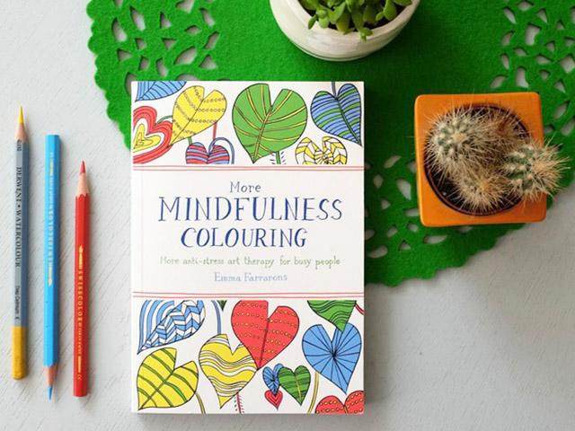 The best mindful stress relieving books - more mindful colouring - womens health uk