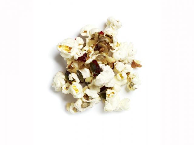 Chocolate and raspberry popcorn recipe