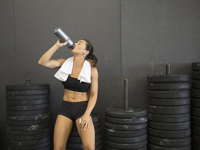 Woman gym towel