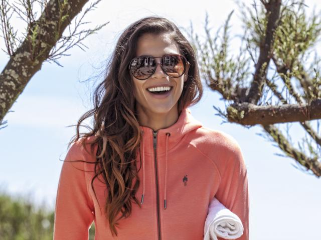 Hpe transition hoodie salmon