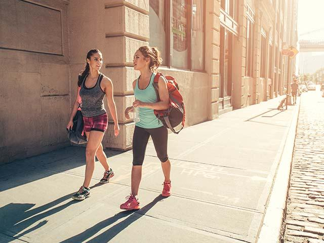 Tone your abs while walking-womens health uk