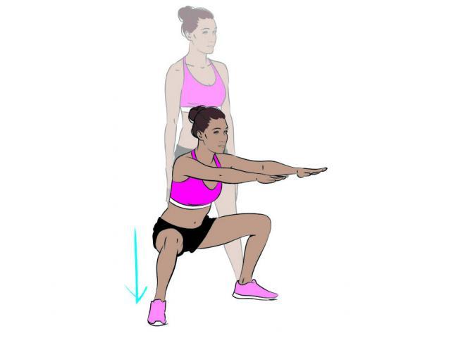 14 sumo squats
