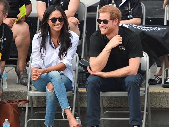 Meghan markle and prince harry - invictus game