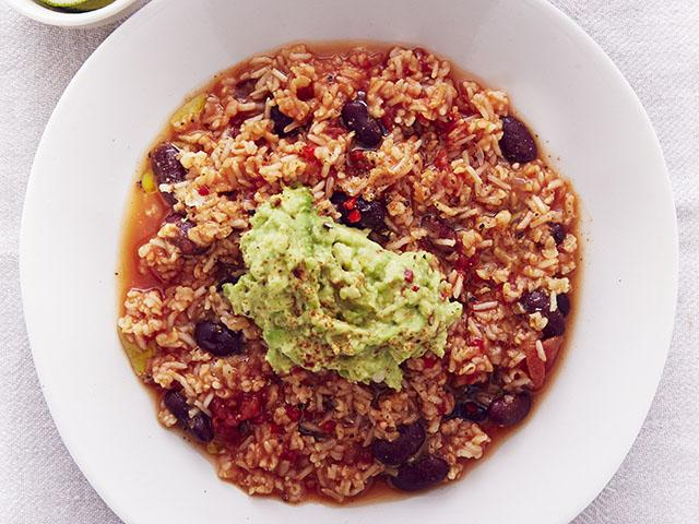 Spicy bean stew and guacamole- clean and lean dinners- womens health uk