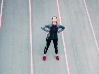 Woman-on-atheletics-track