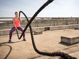 Summer workouts battle ropes - womens health uk