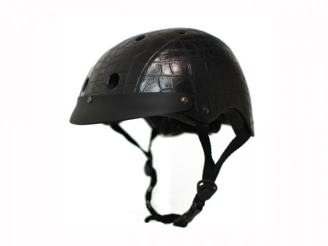 Crocodile black cycle helmet