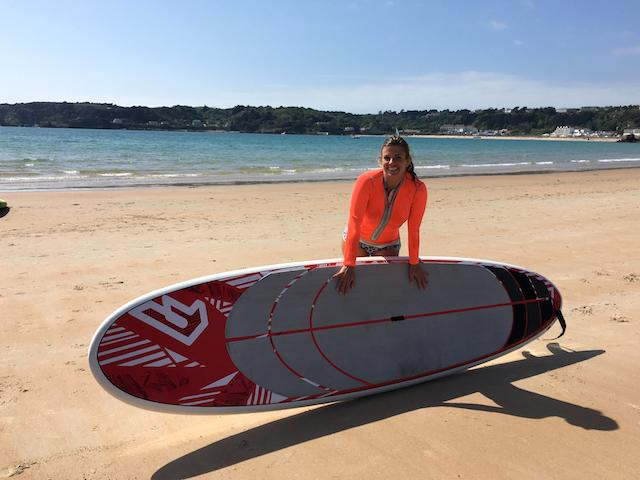How to do a yoga flow on a paddleboard, SUP, Jennifer Moore