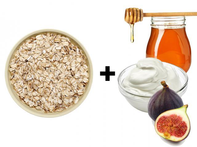 Fig, ricotta and honey porridge