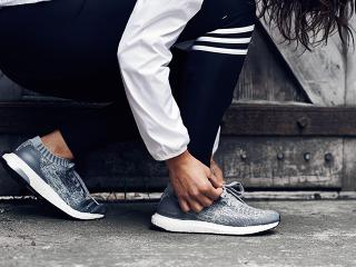 The adidas ACE 16 Purecontrol Ultra Boost in the icy white colorway