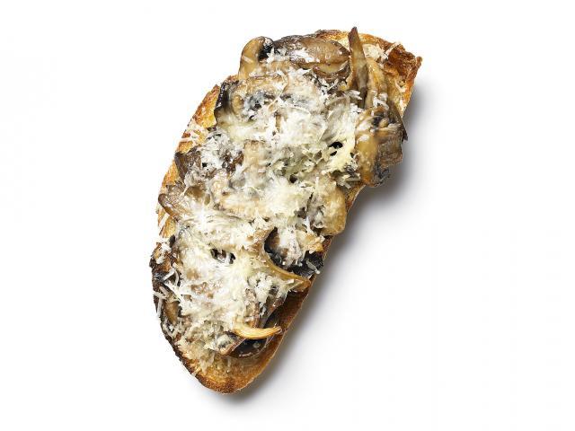 Clear skin mushroom canape mushroom on toast
