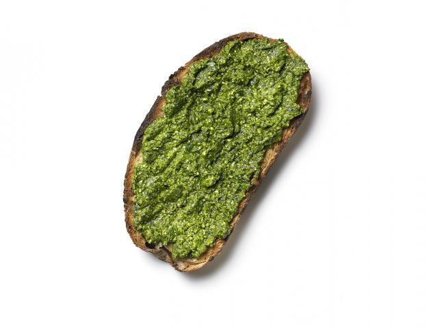 Fat-busting pesto slice pesto on toast