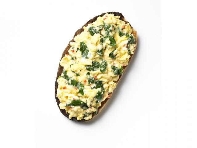 Slim eggs florentine
