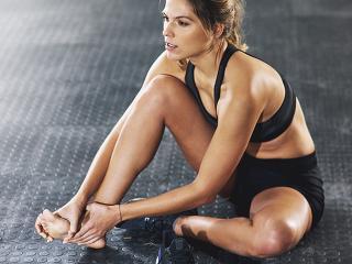 Fascia workout - tension release - tennis ball - womens health uk