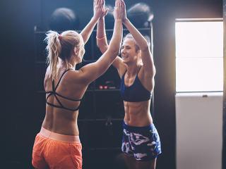 Women high five - burpee challenge - fitness day - womens health uk