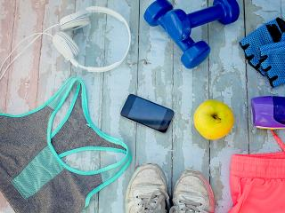 Gym in sports bra - kit lay out- womens health uk