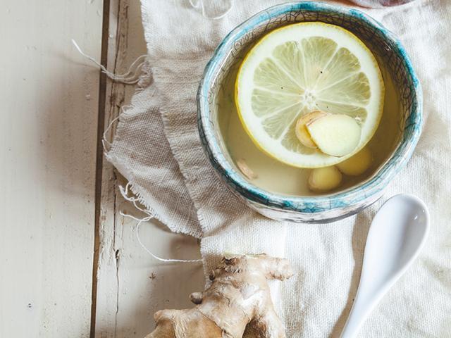 Healthiest herbal tea, hot water and lemon