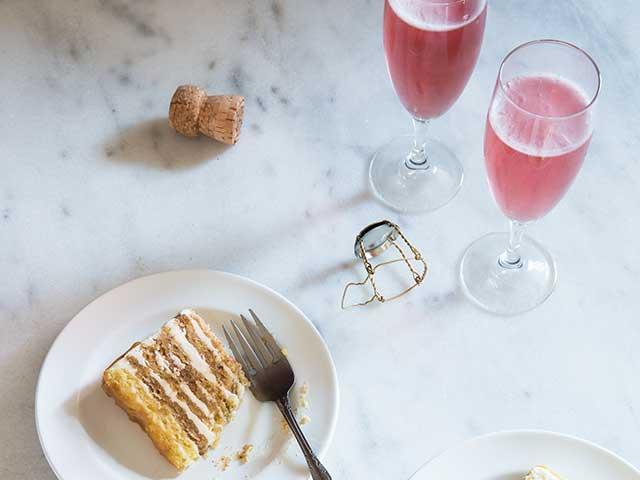 Rose Wine and Cake