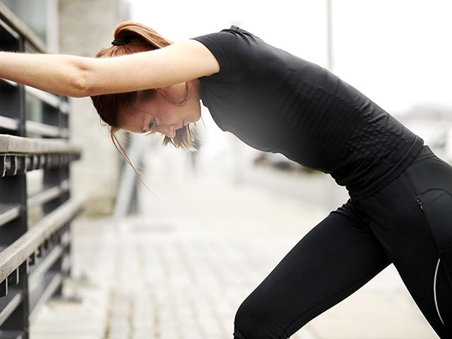 Workout - most fun - woman stretching - womens health uk