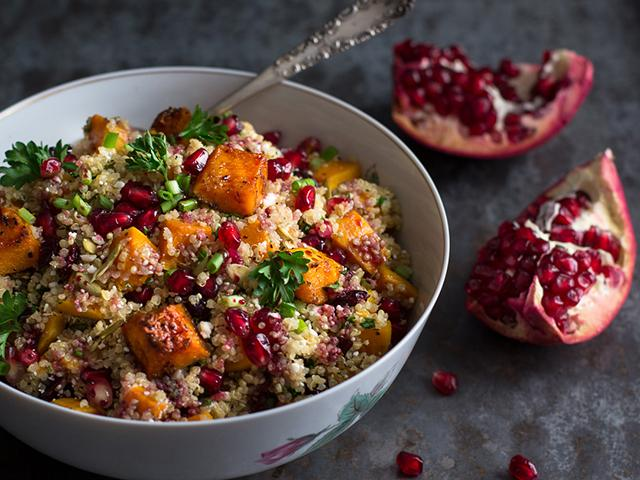 8 ways to use quinoa for a week of healthy recipes womens health roasted butternut squash quinoa salad meal prep 8 ways to use quinoa for a week forumfinder