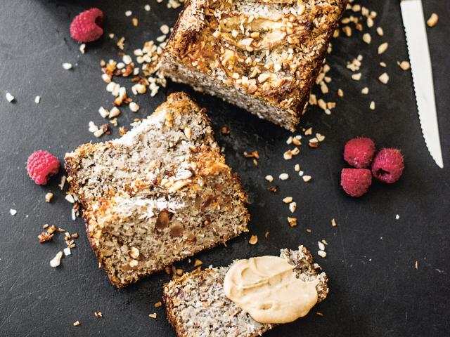 healthy dessert recipes, banana chia cake, nadia damaso