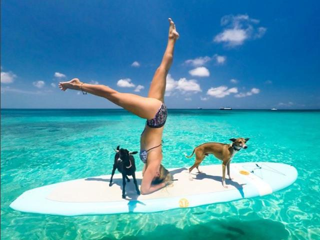 Yoga girl workout with goat-the best pet workouts to cheer you up on blue monday-womens health