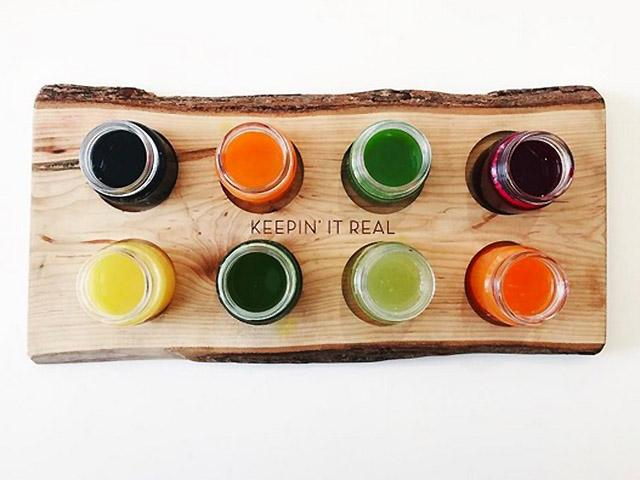 Fresh juices from above