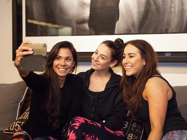 Best fitness bloggers, Hazel Wallace, Em Fuery & Becki Rabin, all wearing ASICS