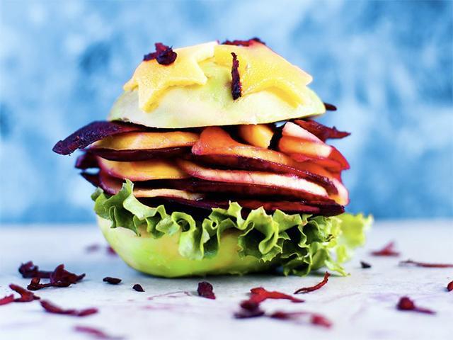 Fruit sandwich stack