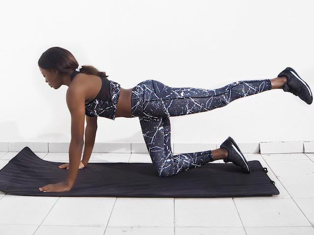 Best workout clothes for women, seen on AJ Odudu, fitness blogger