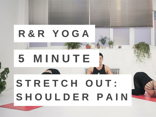 5 minute yoga flow for shoulder pain