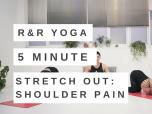 5 minute yoga flow for shoulder pain