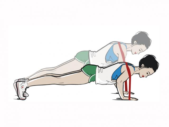 Resistance push up