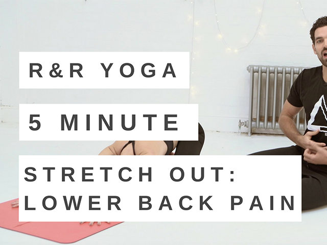 5 minute yoga flow for lower back pain