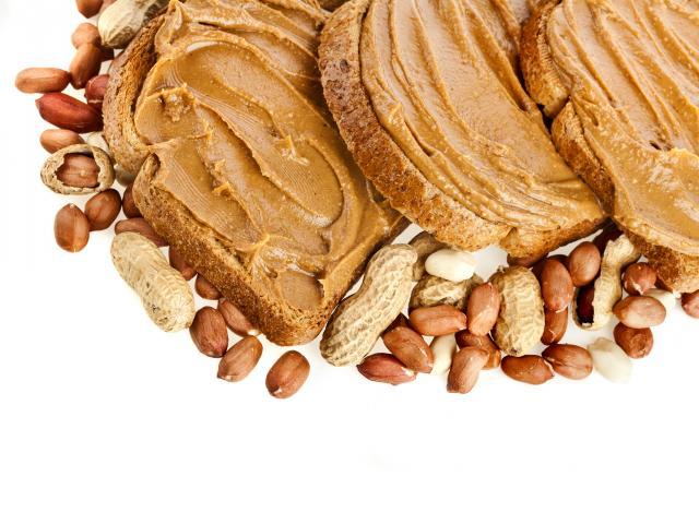 Peanut butter on toast shutterstock
