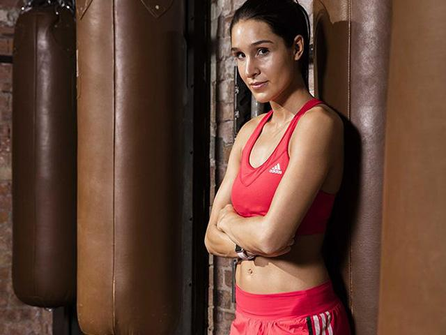 Kayla itsines - red sports bra- adidas - fitness secrets - womens health ukcropped