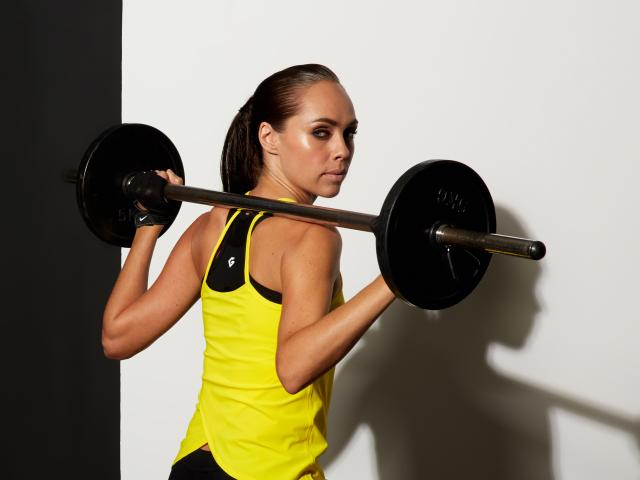 Gymluxe yellow top barbell