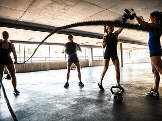 Women doing hiit training