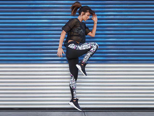 Woman doing single leg exercises