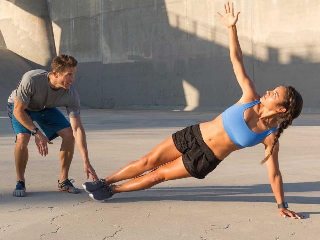 Best new workouts, woman doing a plank
