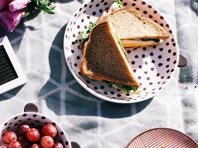 Sandwich on a table