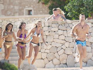 Love island - pole dancing challenge running