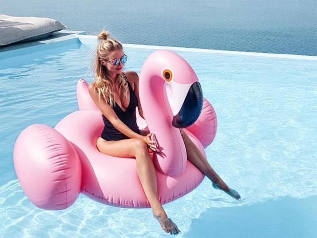 Mr and mrs jones flamingo inflatable