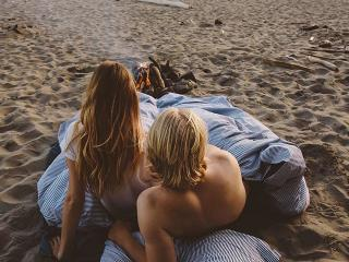 Couple On Beach - This Is How Long Sex Actually Lasts For Most Couples - Women's Health UK
