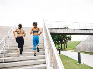 Woman running - period workout clothes