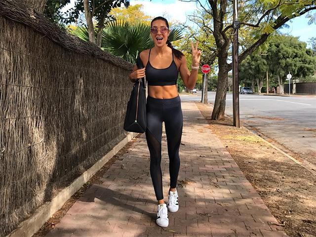 Spandex exercise pantyhose