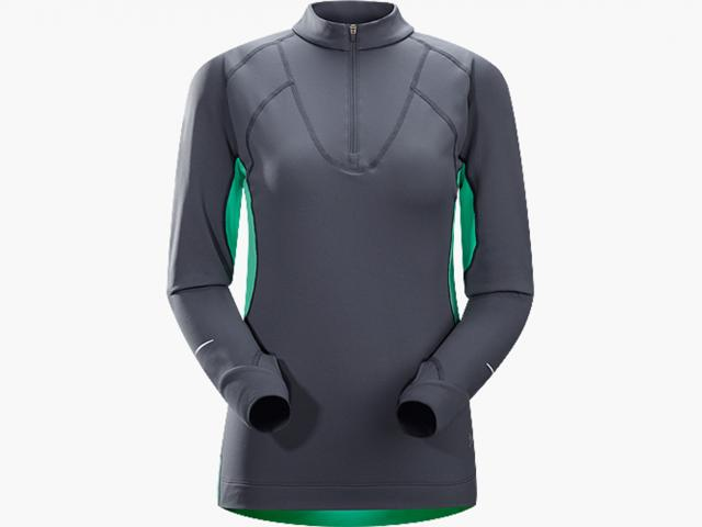 Cyclic zip neck seaglass from Arcteryx winter collection