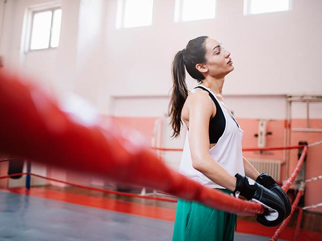 Woman Tired In Boxing Ring - What To Do If You Hit A Fitness Plateau - Women's Health UK